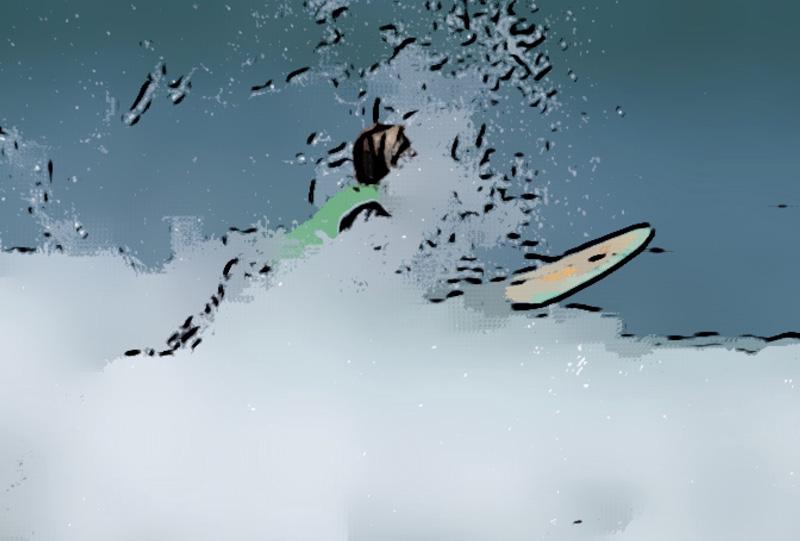 surf waves affiche
