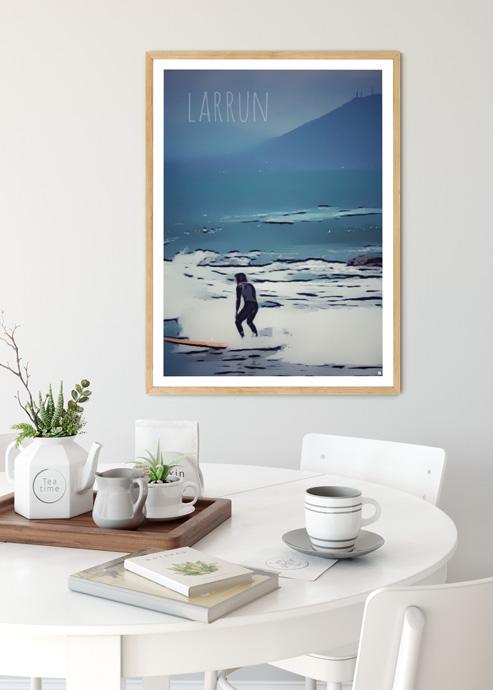 affiche biarritz surf guy