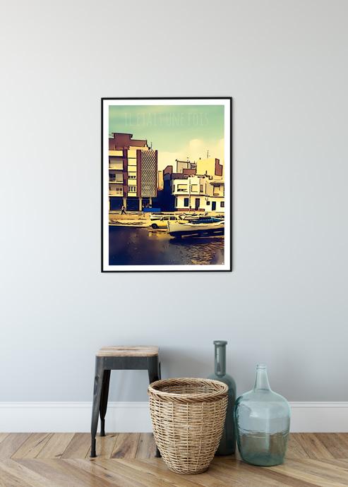 affiche vintage mer guy
