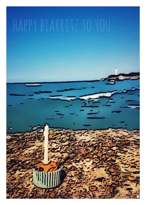affiche biarritz cote basque guy