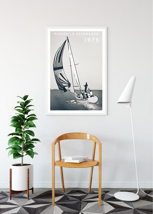 sailing voile cadeau affiche spi