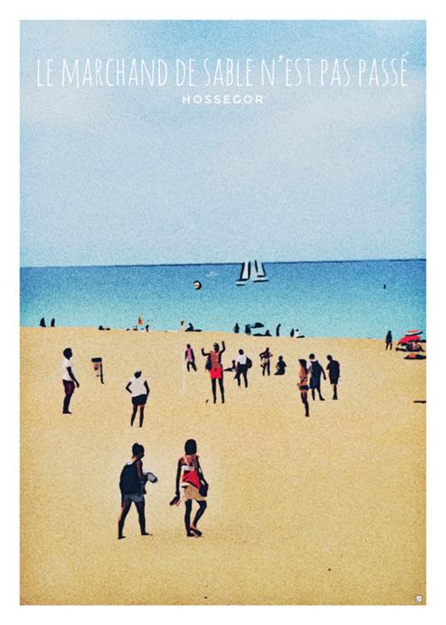landes affiches plage surf
