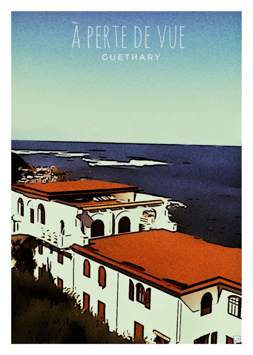 affiche guethary pays basque