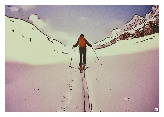 ski neige affiche chamonix
